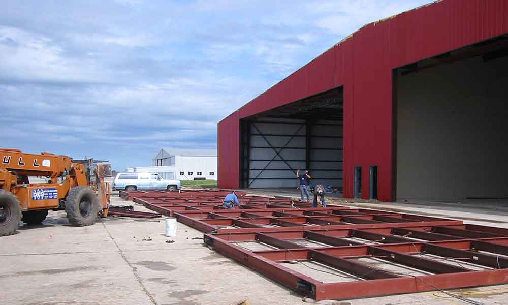 Bottom Rolling Hangar Door & Corrigan Air Hangar | Alamo Hangar Doors